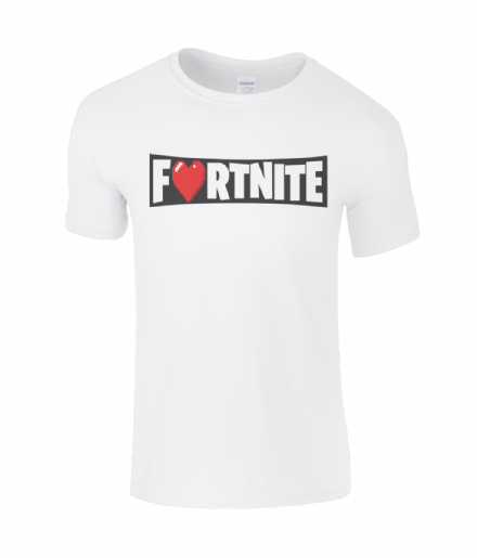 2a2661166 Love Fortnite Pixel Heart Emblem Kids T-Shirt